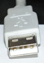 Image of male USB Type A connector