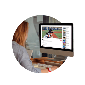 Users watching a livestreamed baseball game by SlingStudio on YouTube